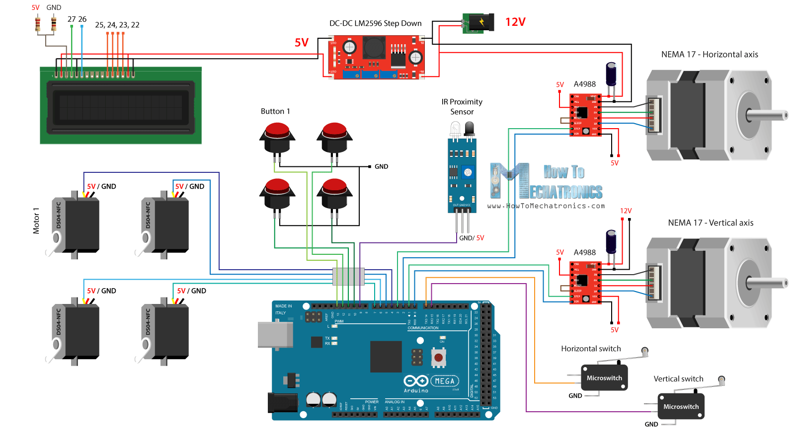 Ado Piso Wifi Wiring Diagram 2000 Ford F250 Headlight Diy Vending Machine Arduino Based Mechatronics Project