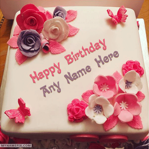 Create Rose Birthday Cake image with Name editor for your friends ...