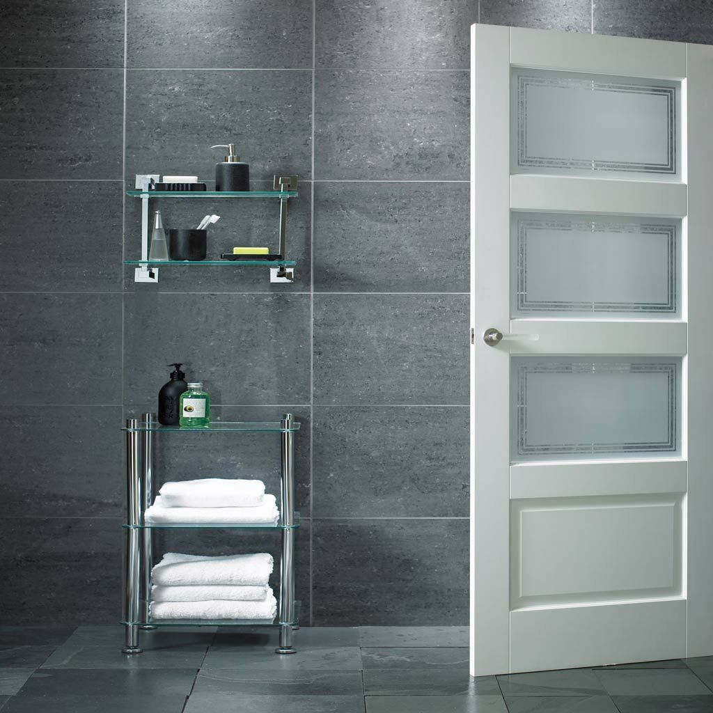 Contemporary 3L/1P Door with Sandblasted Safety Glass incorporating Clear Lines & Contemporary 3L/1P Door with Sandblasted Safety Glass ... pezcame.com