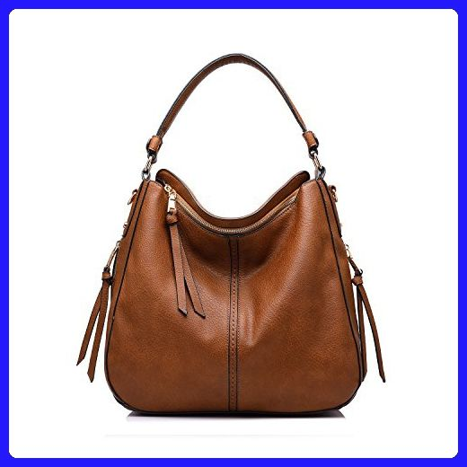 0d26e0df53 Realer Designer Handbag Purse PU leather Durable Shoulder Bag for Women s  Messenger Bag Light Brown - Shoulder bags ( Amazon Partner-Link)