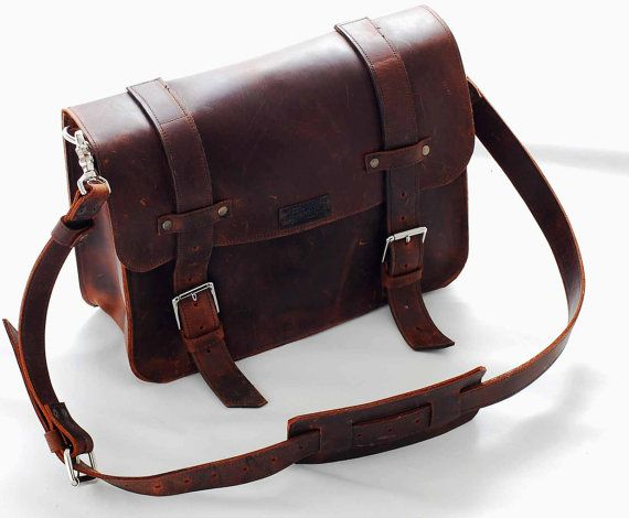 Leather Book Bag Or Messenger For Men Ann Women Ooak