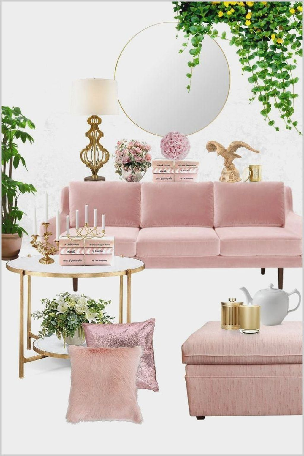 20 Cute Pastel Living Room Design Ideas That You Should Have Pastel Living Room Blush Pink Living Room Green Living Room Decor