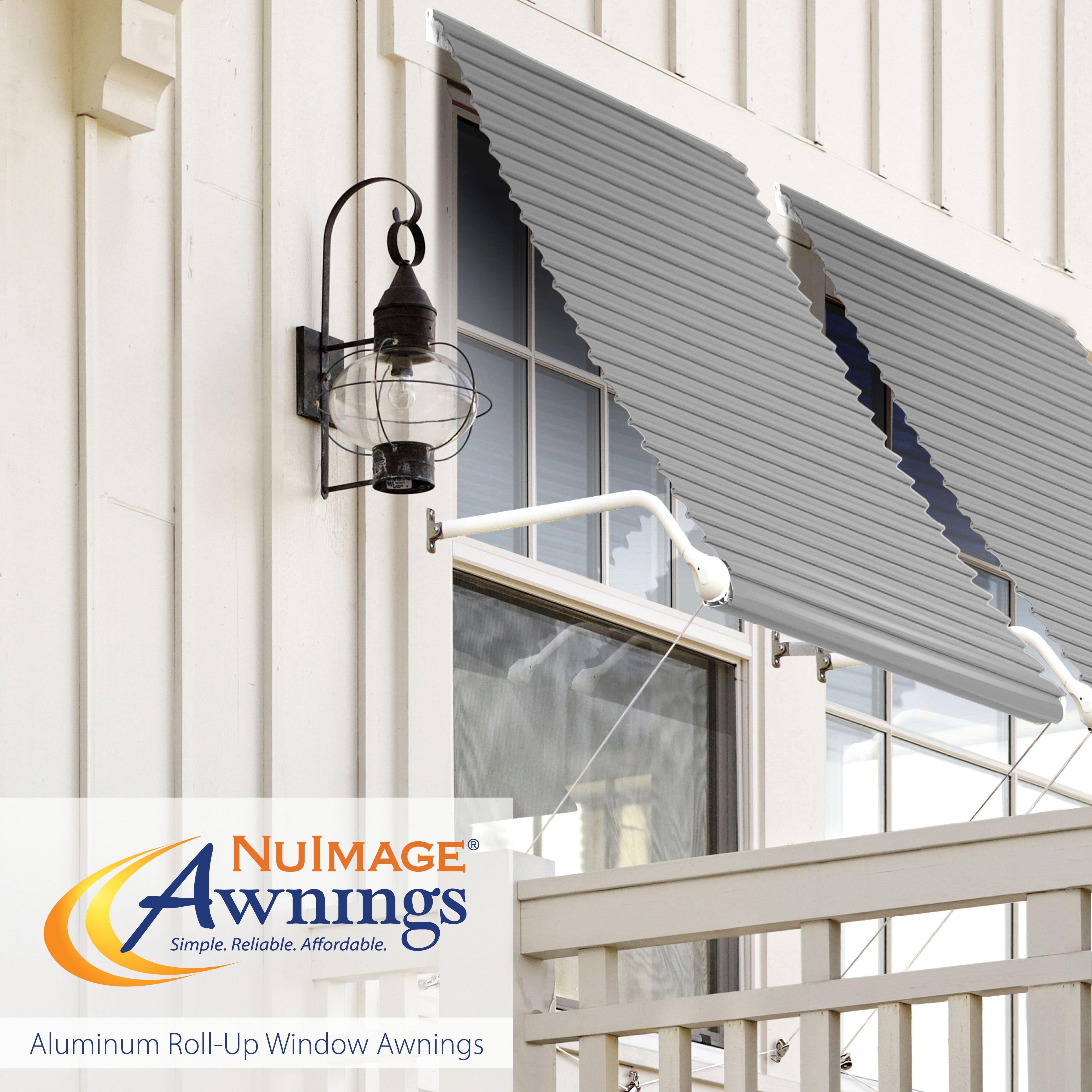 Nuimage Awnings Series 5500 Aluminum Roll Up Window Awnings Aluminum Awnings Porch Railing Kits Canopy Design