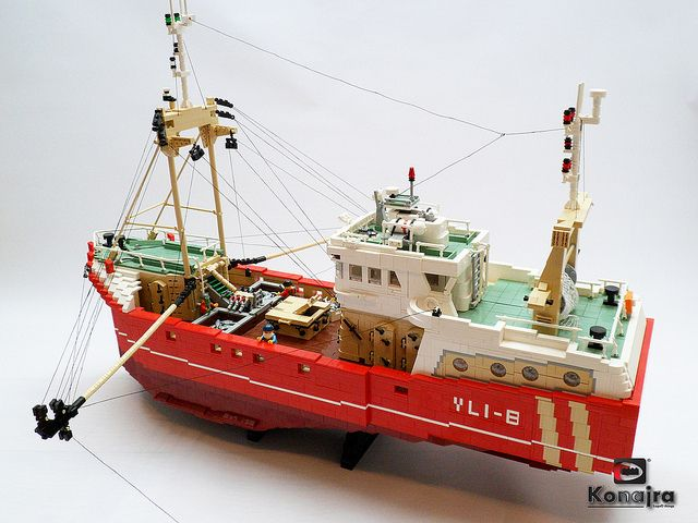 Beamtrawler Vli 8 Fishing Flickr Lego Moc Lego Misc