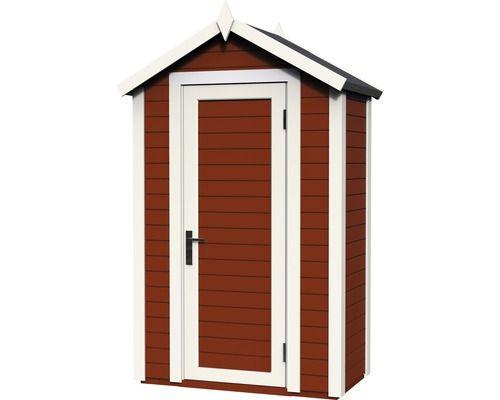 Wandhaus Cabin premio mit Fußboden 120x62 cm schwedischrot - abris de jardin adossable