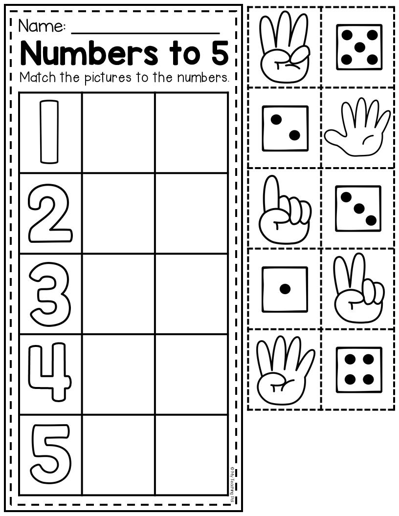 Numbers To 5 Worksheet Numbers Preschool Kids Math Worksheets Kindergarten Math