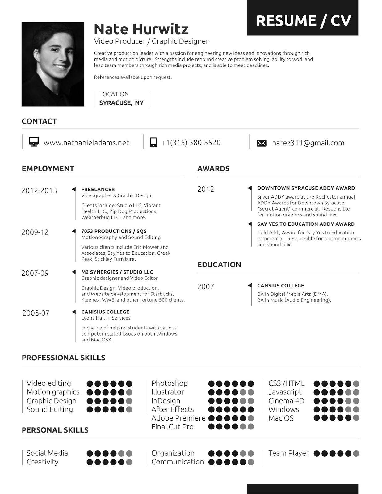 Resume Format Vfx Artist Resume format, Artist resume