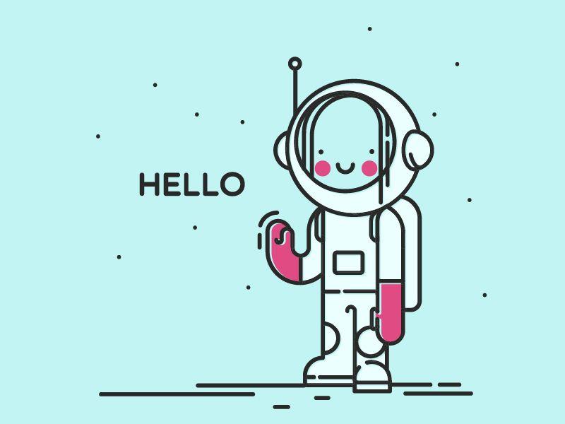 Hello Dribbble by Natalia Sheveleva