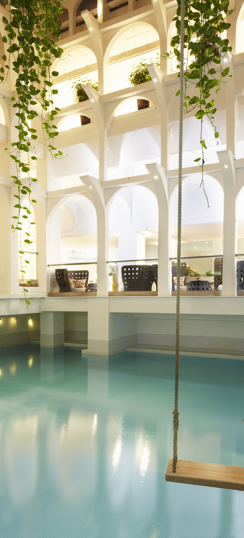 Hanging Chair Jeddah Fun Office Chairs Atrium Pool Swing Poetics Of Space Pinterest Swings