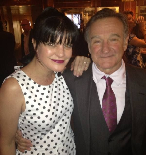 Pauley Perrette and Robin Williams or as Pauley puts it when abby meant mork