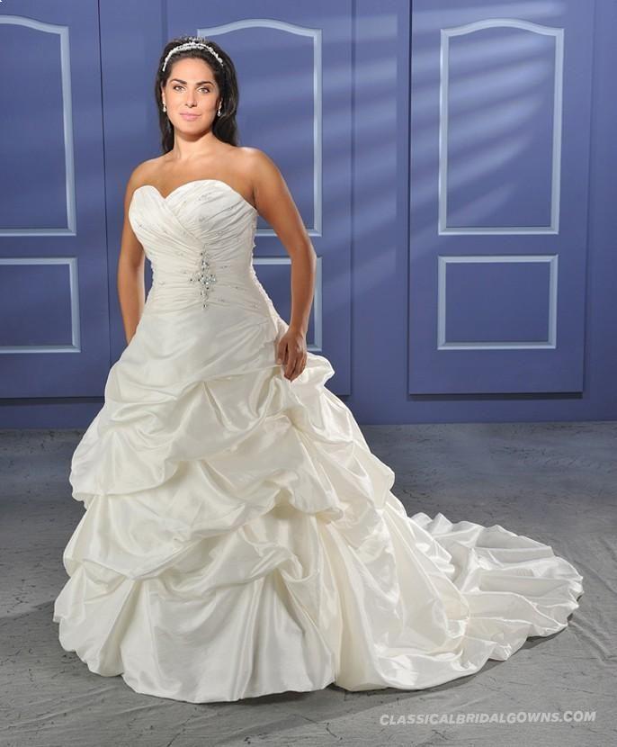 Get Beautiful Bonny Unforgettable 1010 Plus Size Wedding Dress