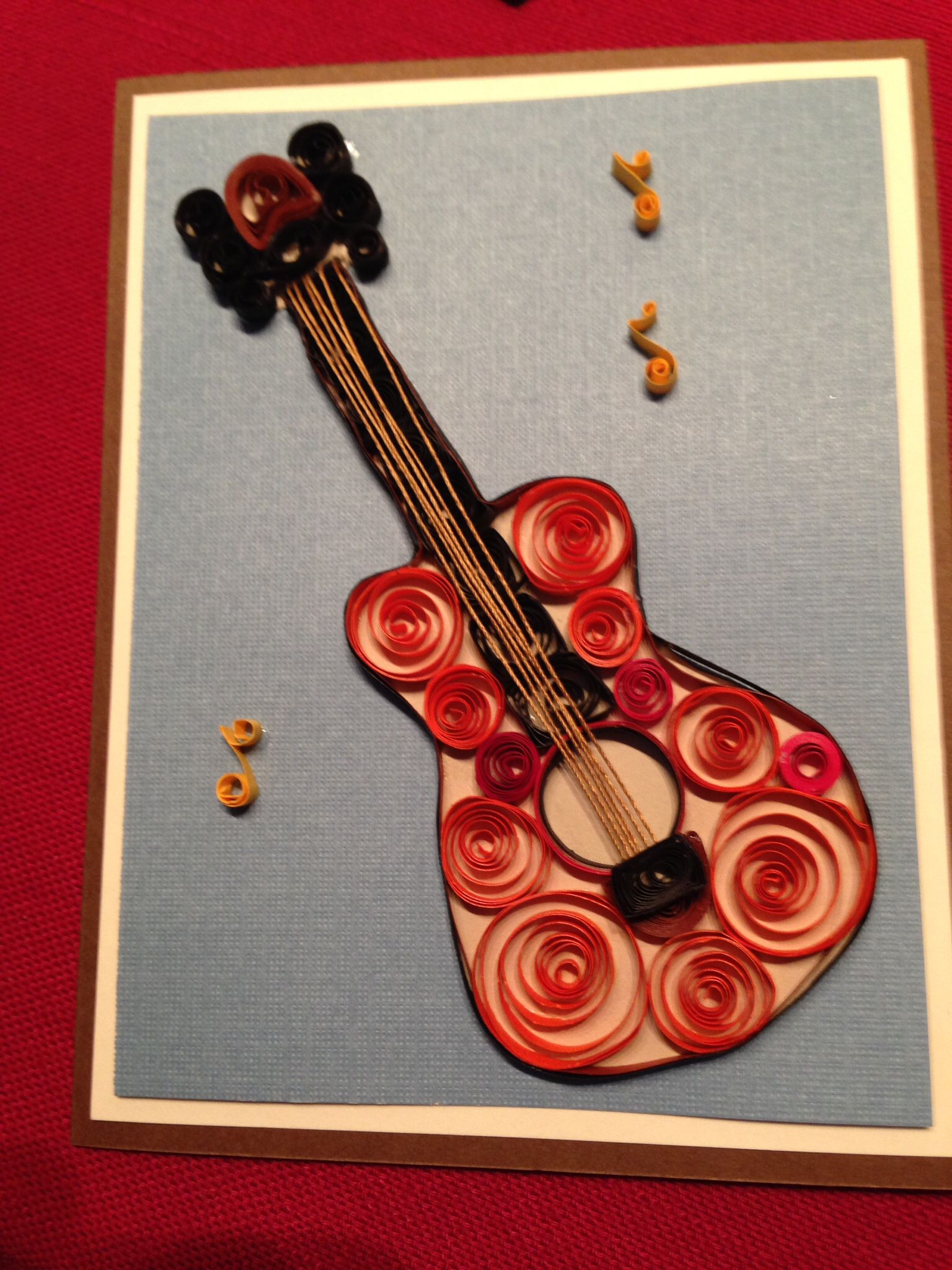 quilling birthday guitar for Peter