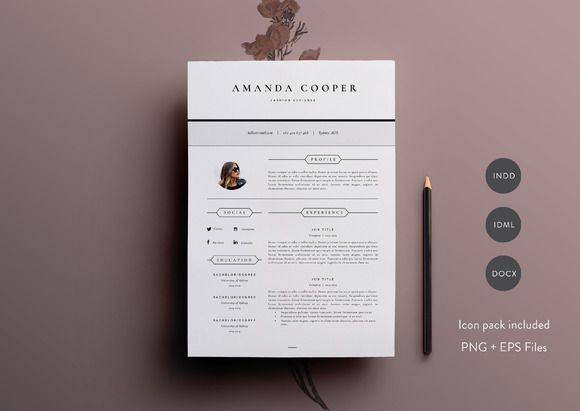 3 Page Resume Template INDD + DOCX by Basic Creations on - 3 page resume