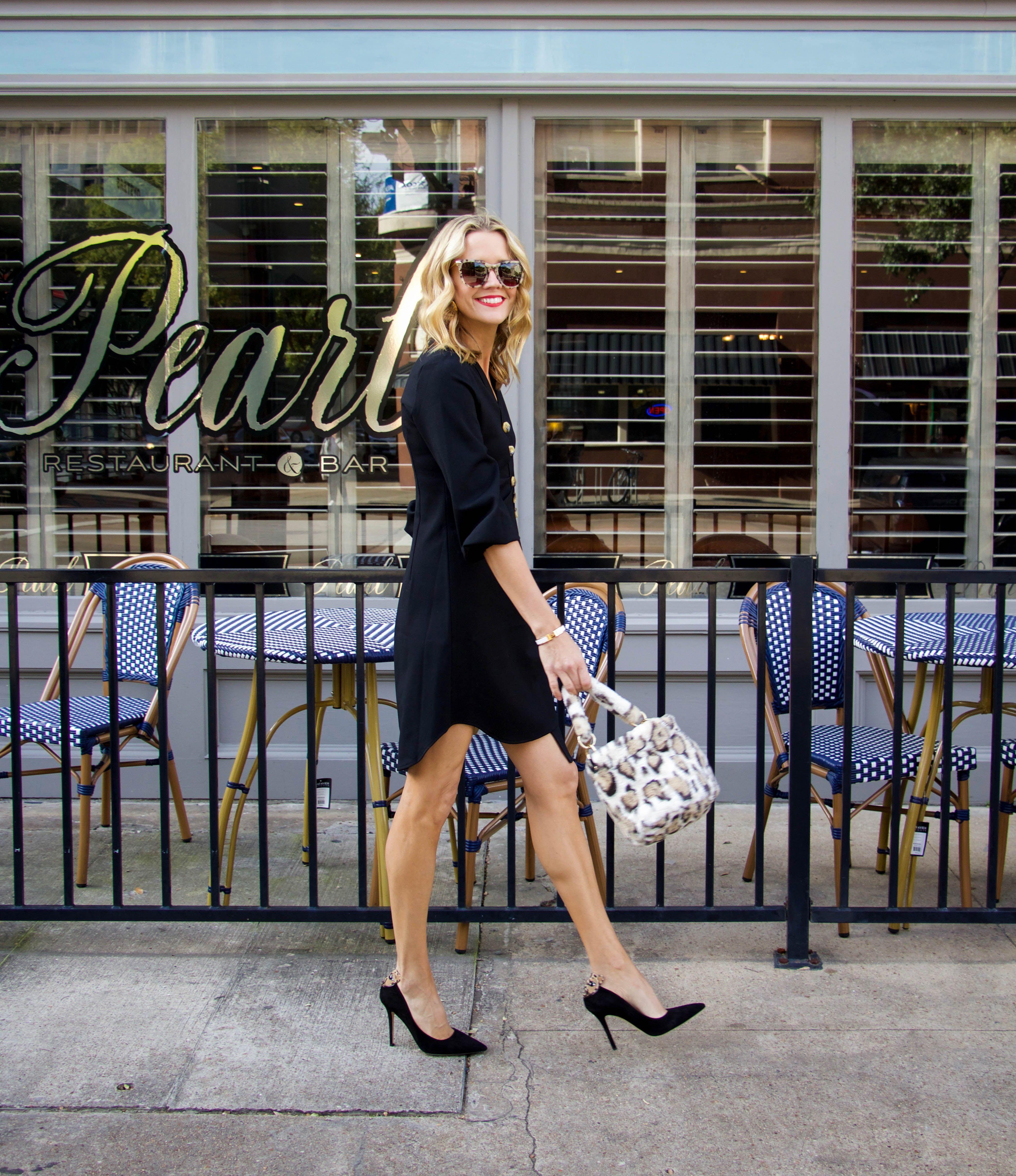 Tibi Little Black Dress Button Down Topshop Fur Leopard Bag Black Pump Holiday Dress Classic Dress Edition Dresses Little Black Dress [ 4570 x 3949 Pixel ]