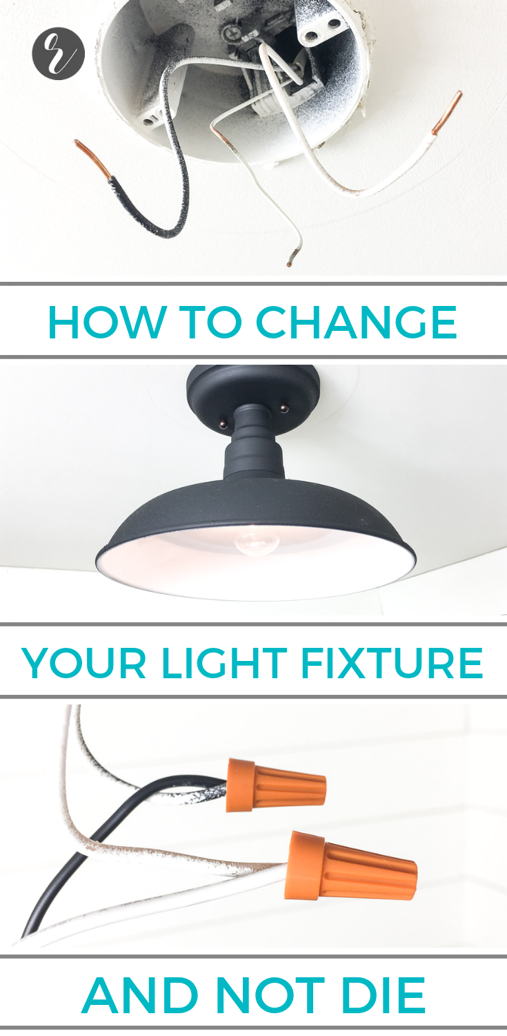 How To Change A Wall Or Ceiling Light Fixture In 2018 Top Wiring Extension Cord Learn Replace Upgrade Without Getting