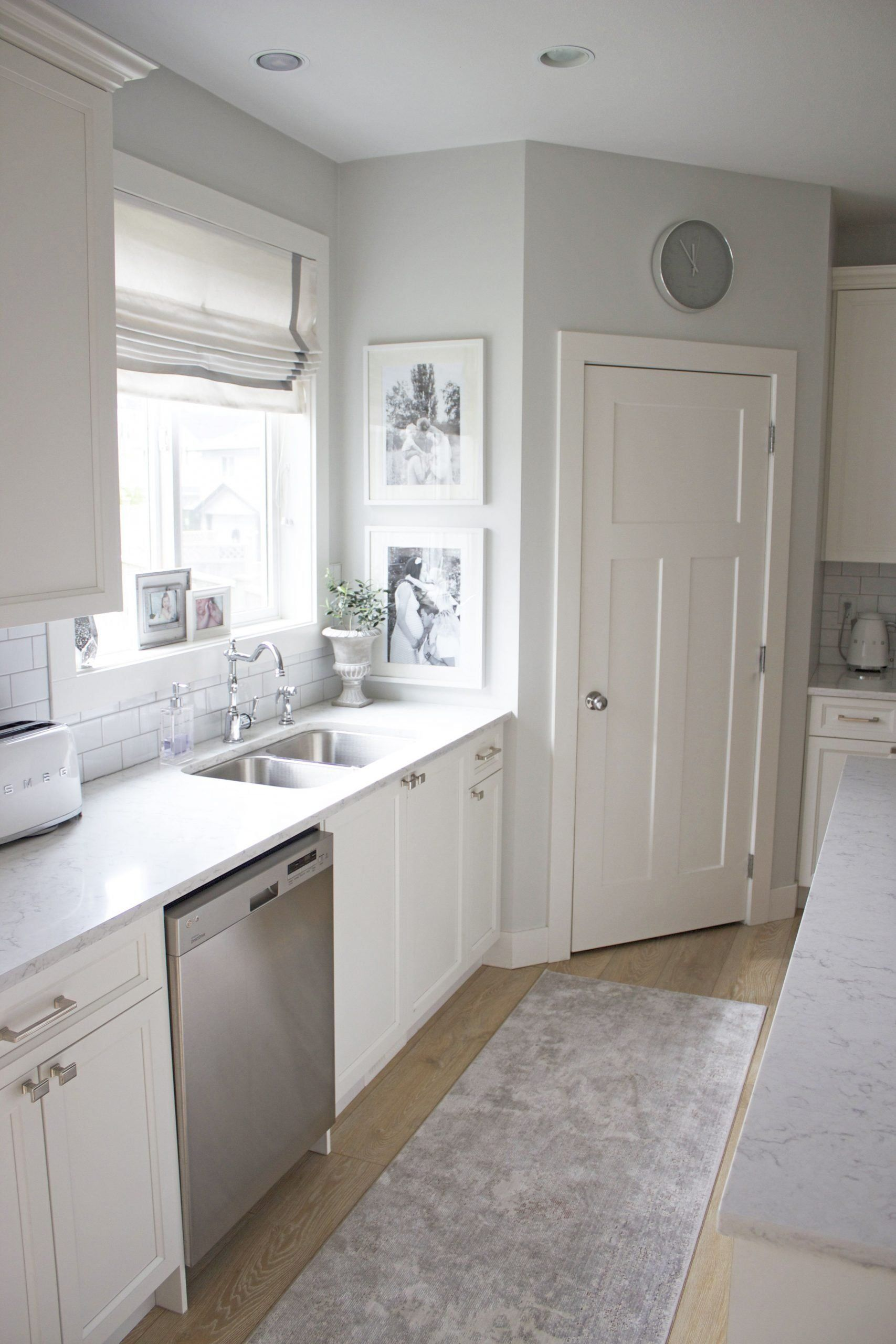 Gray Kitchen Wall with White Cabinet Inspirational White ...