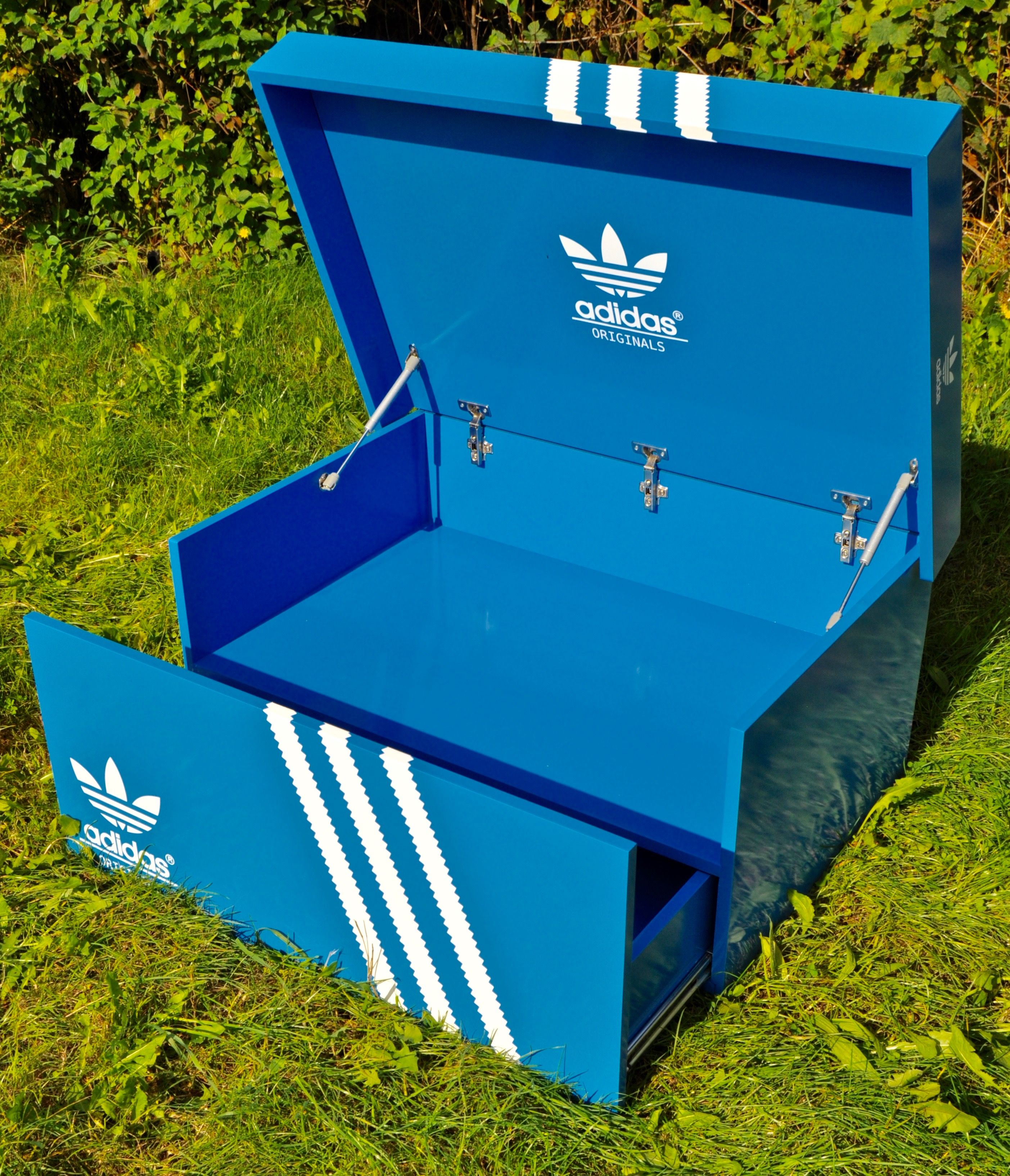 Giant Adidas Shoe Box Jams and Co Wood  packing & boxes in 2019