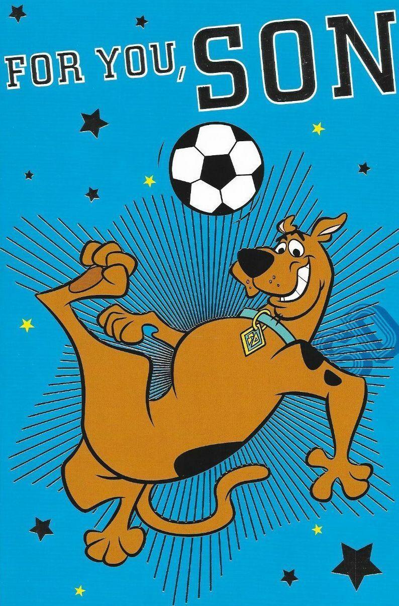 For You Son ,Scooby Doo Birthday Card,Football Theme 6 X 9