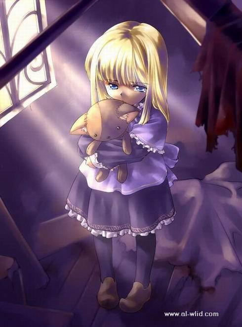Search Little Girl Manga Teddy Bear Cartoon Anime Crying