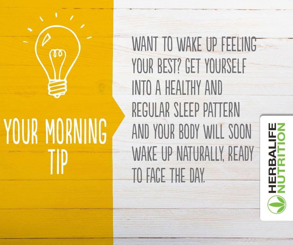 Herbalife Nutrition morning tip ... | Herbalife | Pinterest ...
