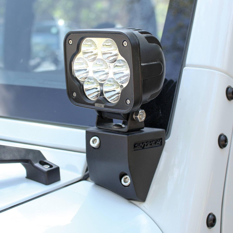 westin snyper bumper mount 30 led bar for jeep® wrangler jk is westin snyper lower pillar light mount offers jeep® wrangler jk enthusiasts an ideal led light