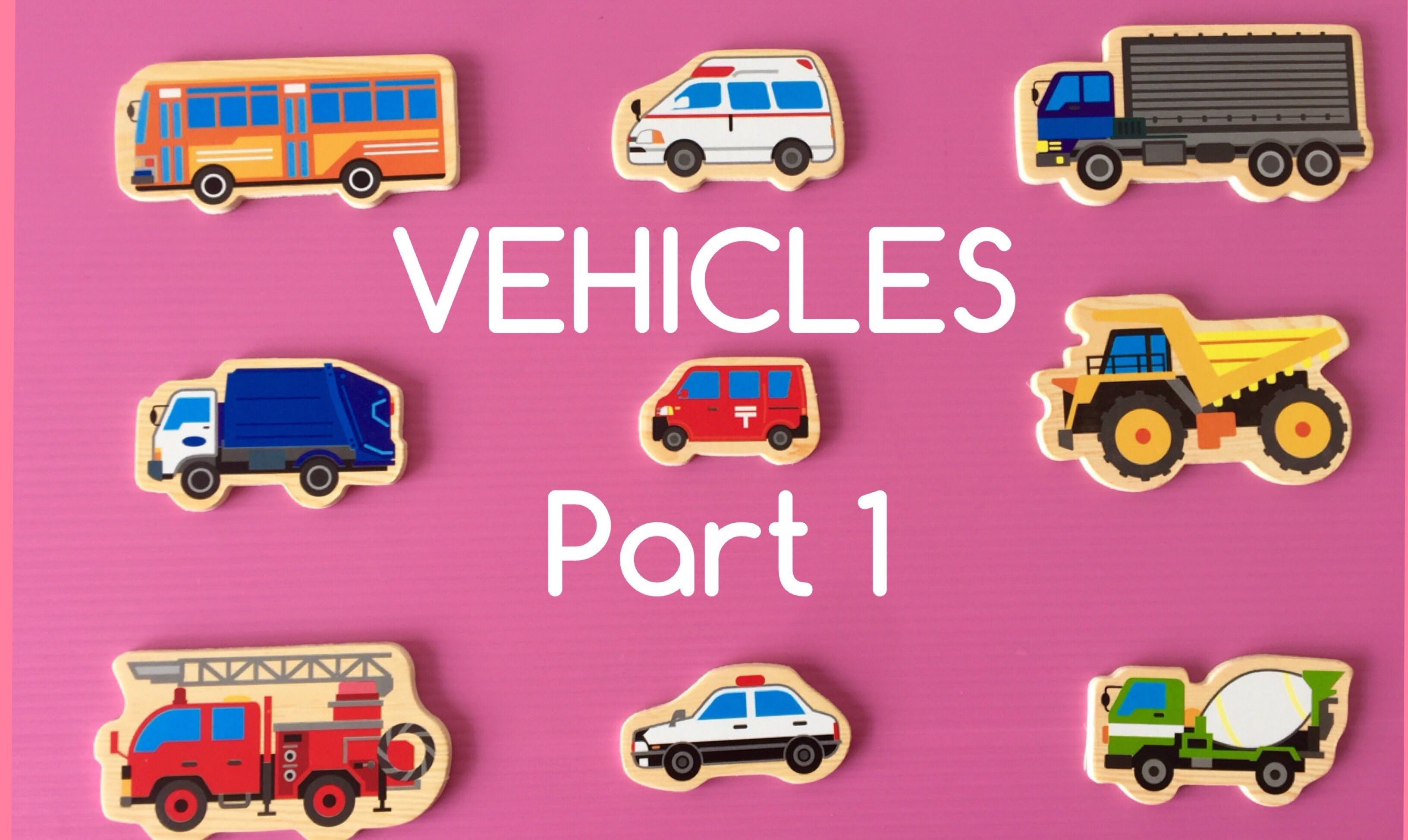 Learning Diffe Types Of Special Street Vehicles Names And Sounds Fo