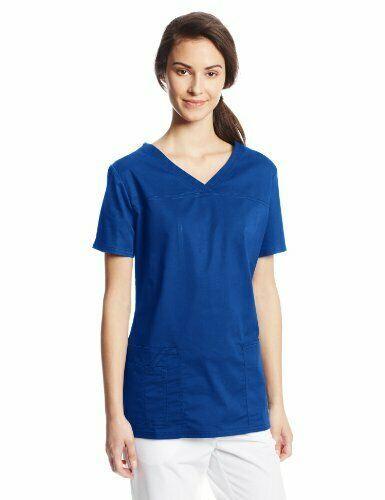 076424a34d7 eBay #Sponsored Cherokee Women's Workwear Scrubs Core Stretch V-Neck Top  Galaxy Blue 2X-Large