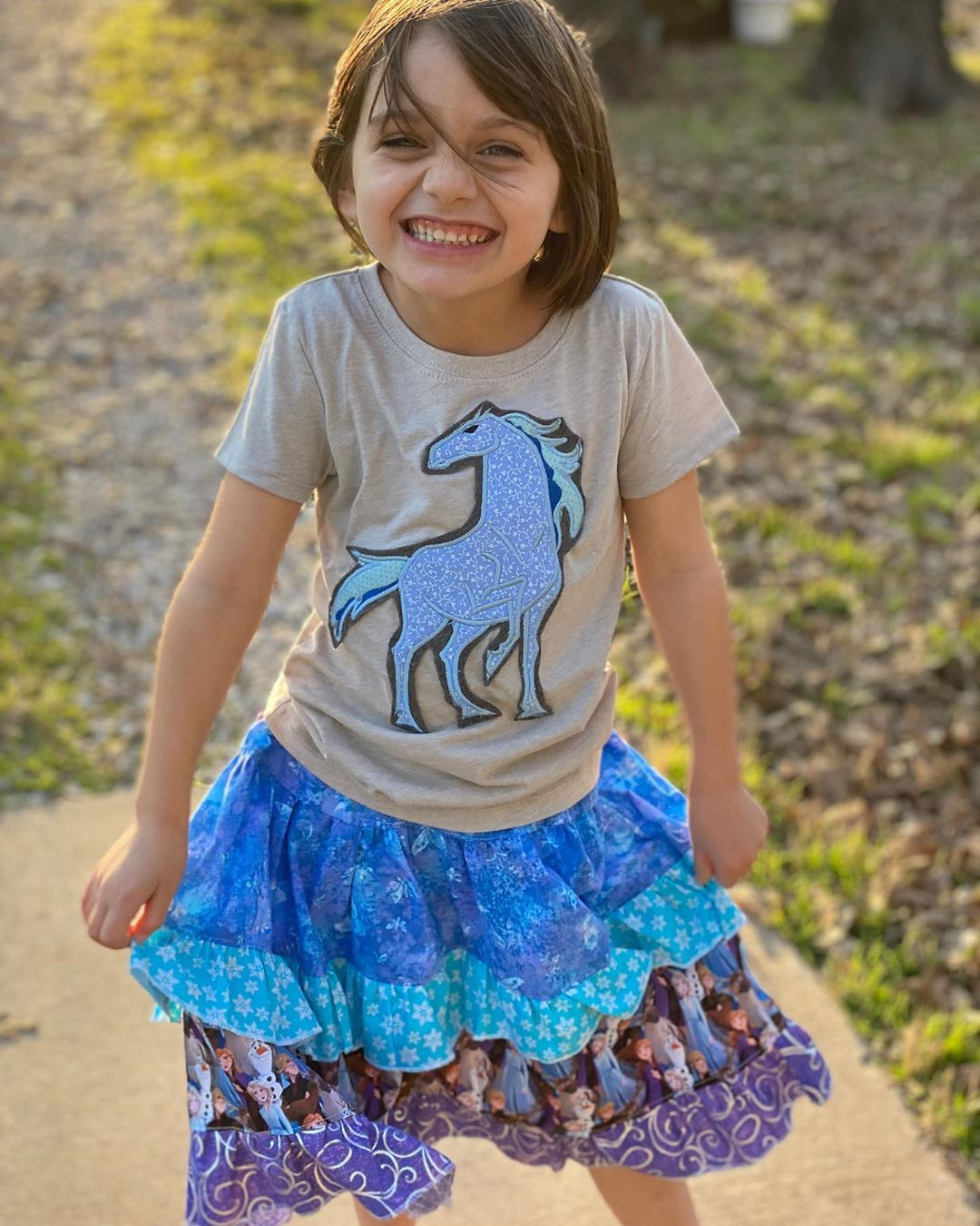 Emma sporting a fabulous Frozen II outfit courtesy of