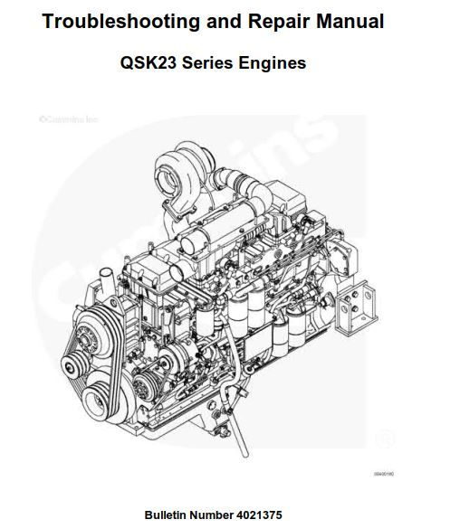New post (Cummins QSK23 Series Engines Troubleshooting and