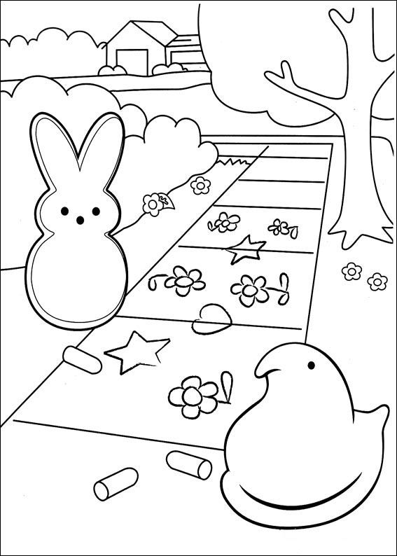 23 Marshmallow Peeps Printable Coloring Pages For Kids Find On Book Thousands Of