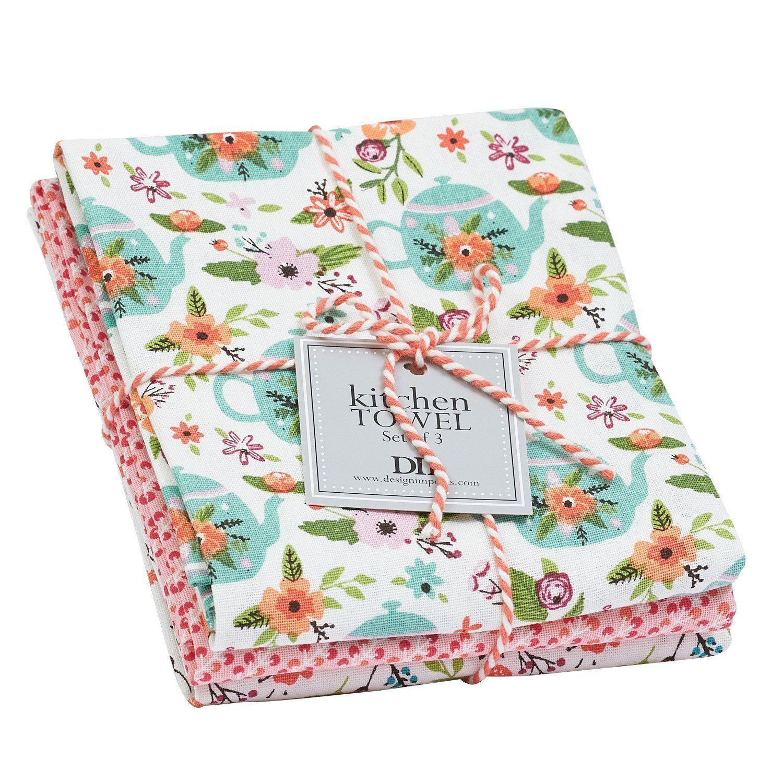 Wholesale Garden Tea Party Dishtowel Set Of 3 Dii Design Imports
