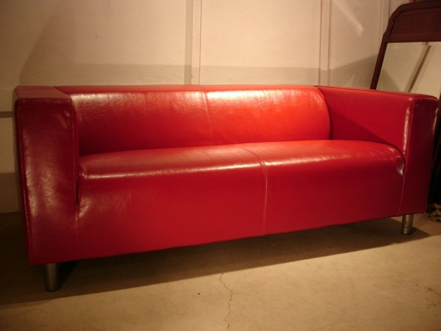 Ikea Klippan Red Leather Sofa | Couch & Sofa Gallery | Pinterest
