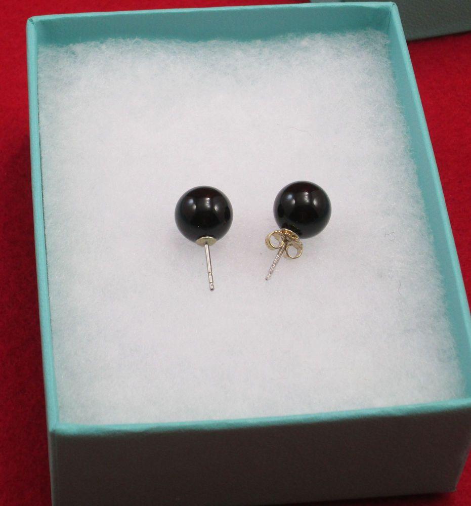 Tiffany And Co Black Onyx Earrings New In Original Box Never Worn Tiffanyco Stud