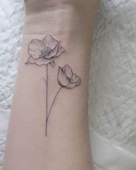 61+ trendy tattoo flower poppy simple