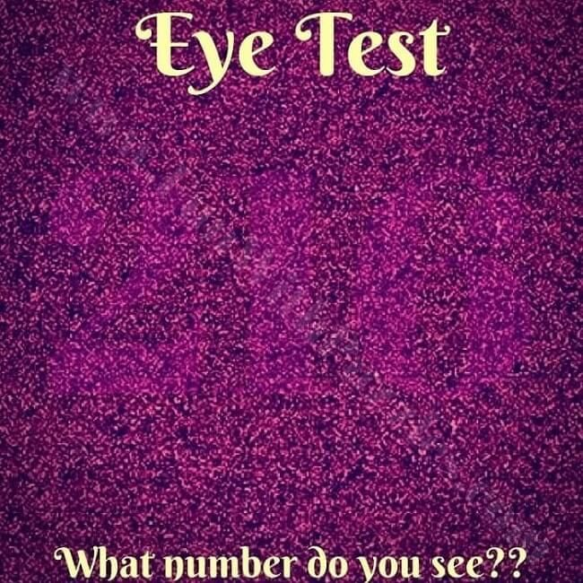Eye TestWhat Number do you See? Eye test, Mind reading