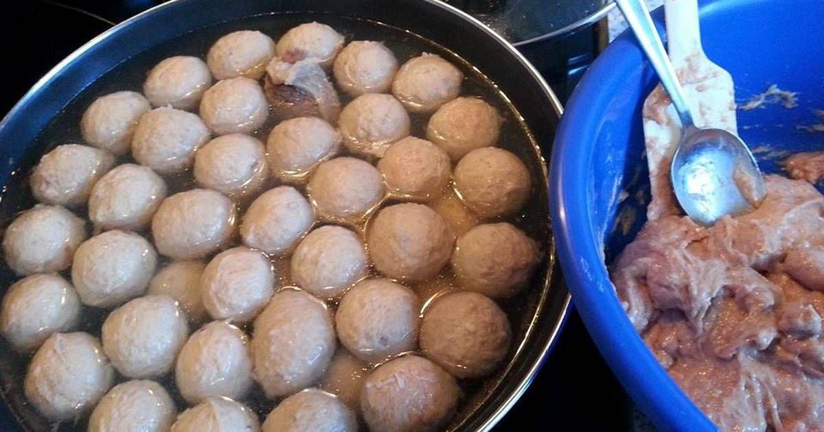 Resep Bakso Daging Sapi Kenyal Seperti Yang Dijual Di Abang Abang Oleh Erna Brockhaus Resep Resep Makanan Dan Minuman Daging Sapi