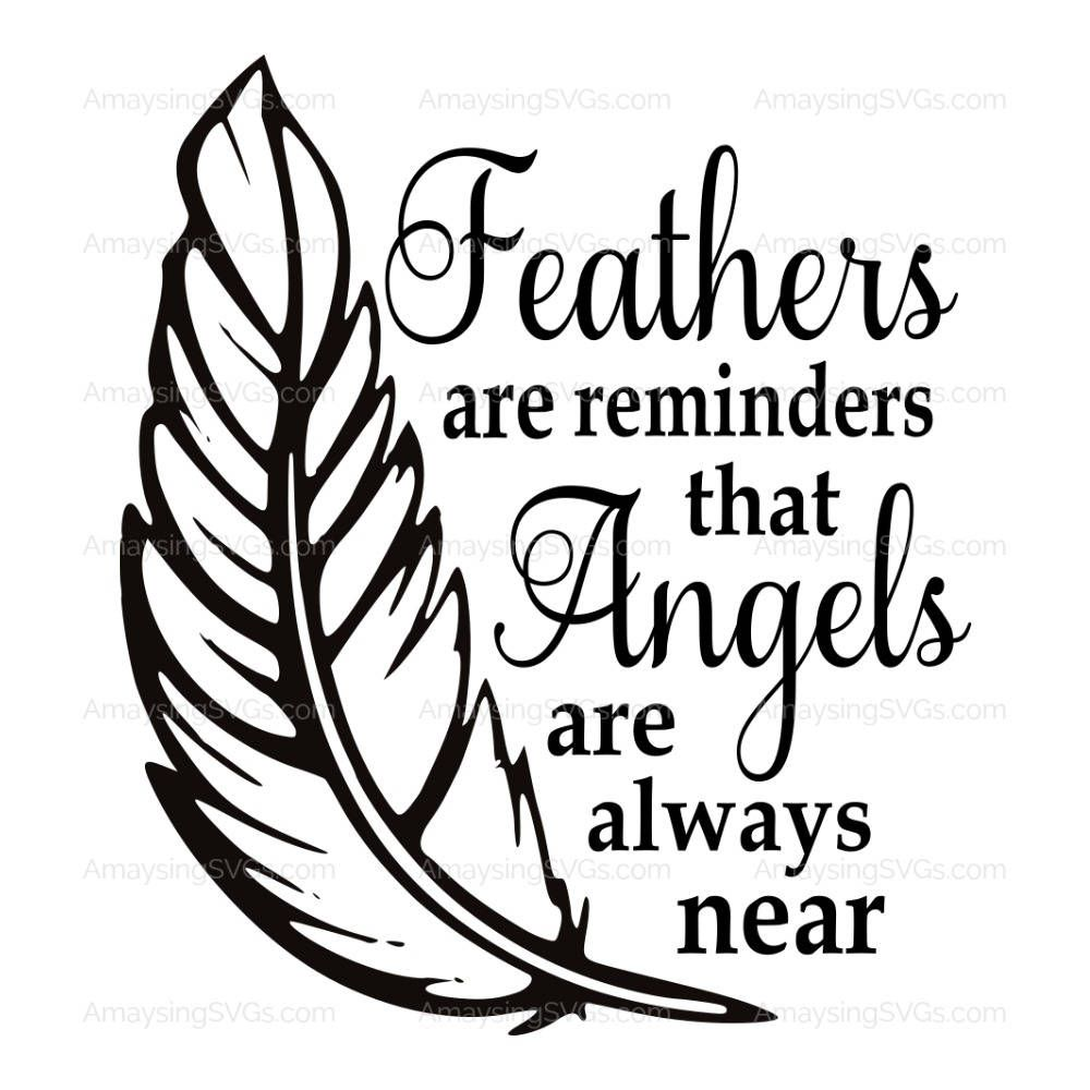 SVG Feathers are Reminders Memorial svg Tile SVG