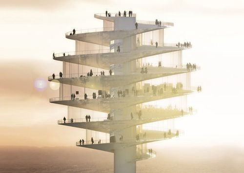 Danish studio BIG has designed an observation tower shaped like a honey dipper for Phoenix, Arizona.  Tumblr_mfc1rlte331r4whgbo1_500_large