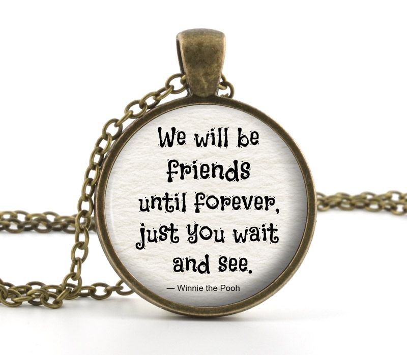 Winnie The Pooh Quotes About Friendship Prepossessing Friendship Necklace  Winnie The Pooh Jewelry   Handmade