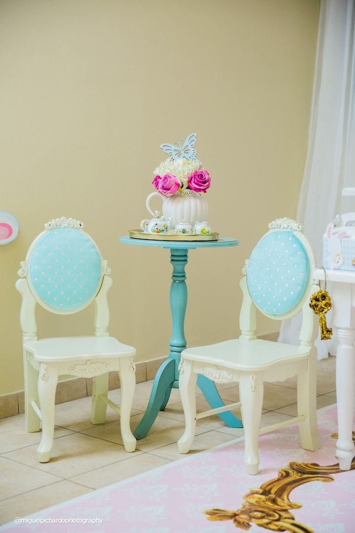 Chairs from a Pastel Glam Alice in