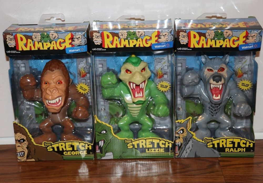 Rampage Midway Arcade Games Complete Set Stretch