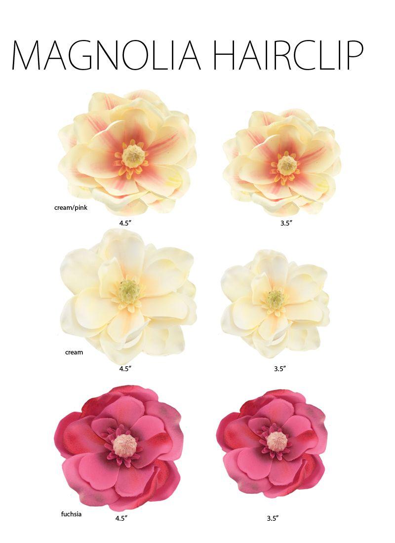 4 5 Magnolia Flower Hair Clip In Three Colors Flowers In Hair Flower Hair Clips Magnolia Flower