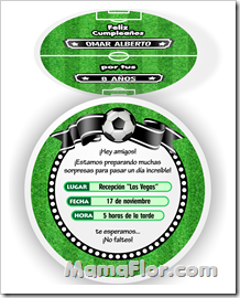 Invitaciones Personalizables De Pelota Futbol Invitaciones