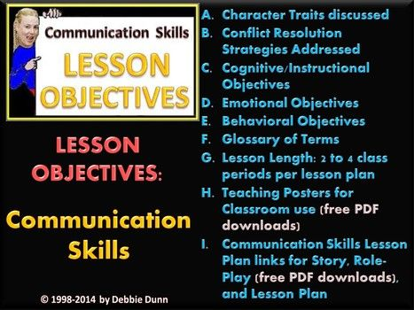 Updated Lesson objectives Communication Skills Conflict - lesson plan objectives