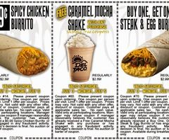 photo regarding Taco Bell Printable Coupons called Printable Discount codes: Taco Bell Discount codes Printable Discount codes