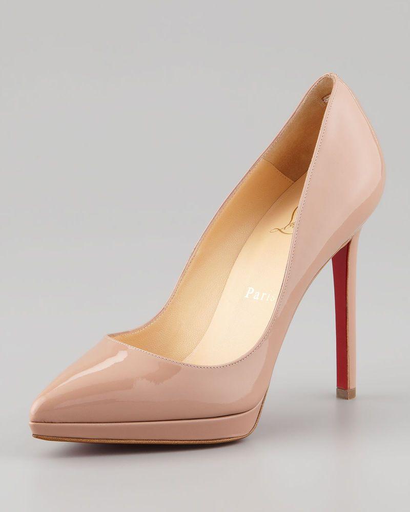 a53864683e20 100% AUTHENTIC NEW WOMEN LOUBOUTIN PIGALLE PLATO 120 NUDE PUMPS HEELS US 9.5   shoes  designer