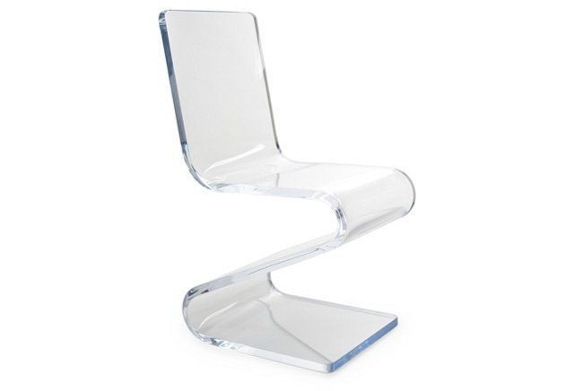 Gage Acrylic Side Z Chair Clear Funky Chairs Chair Lucite Chairs