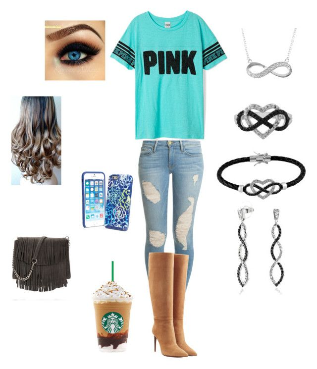 """Going to Starbucks"" by jenna610-1 ❤ liked on Polyvore"