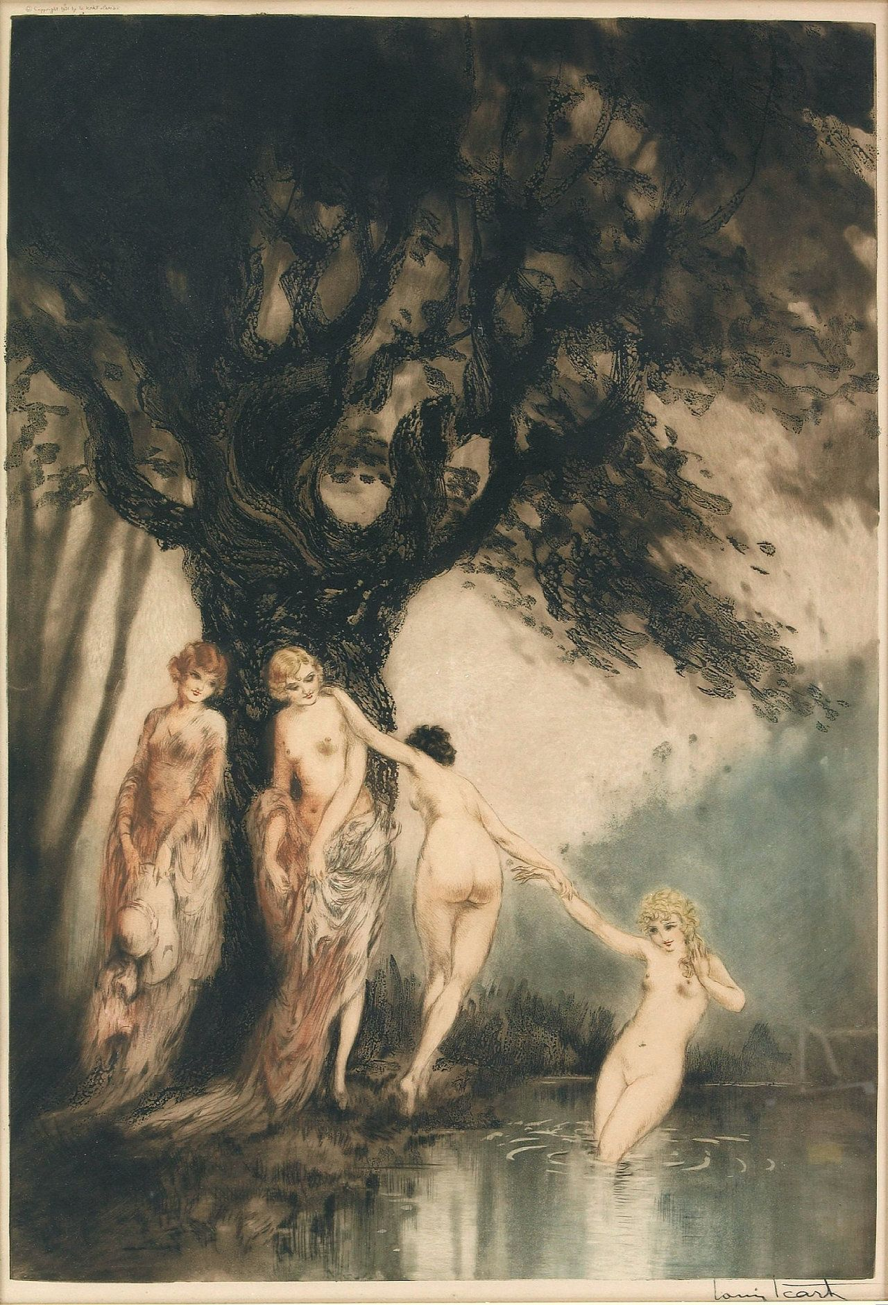 Bathing Beauties, 1931  Louis Icart