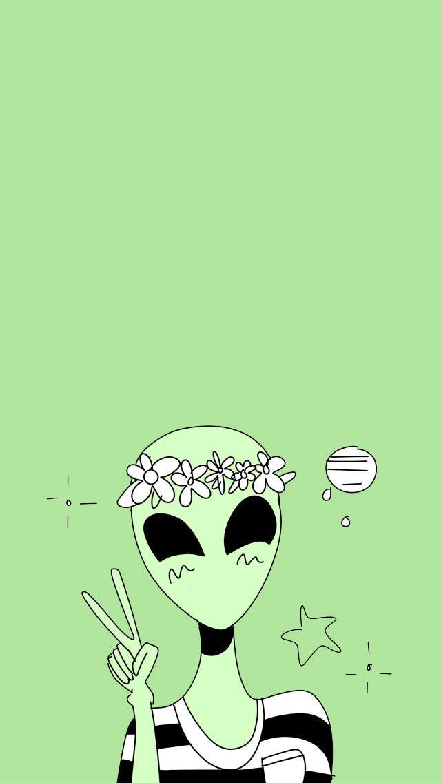 alien wallpaper Tumblr … Alien drawings, Cute